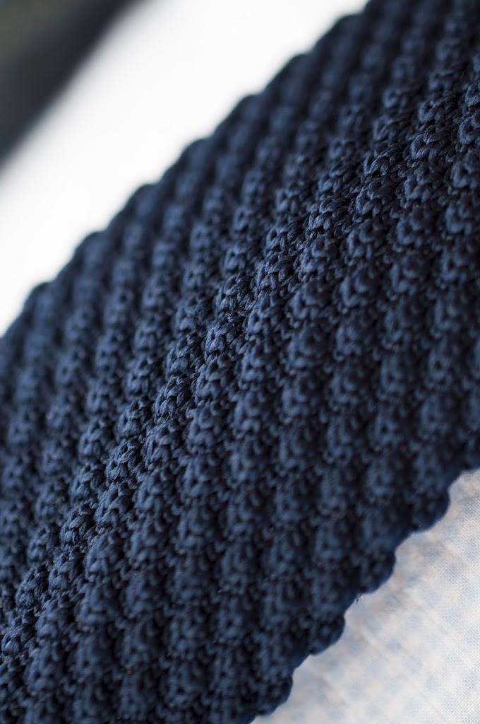 knit granatowy