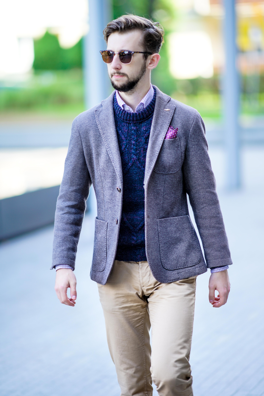 7210f5c1804f26 Bardzo często słyszę głosy, że zestawienie sweter + koszula + dodatkowo  marynarka to o jedną warstwę za dużo. O ile kwestie estetyczne są zawsze ...