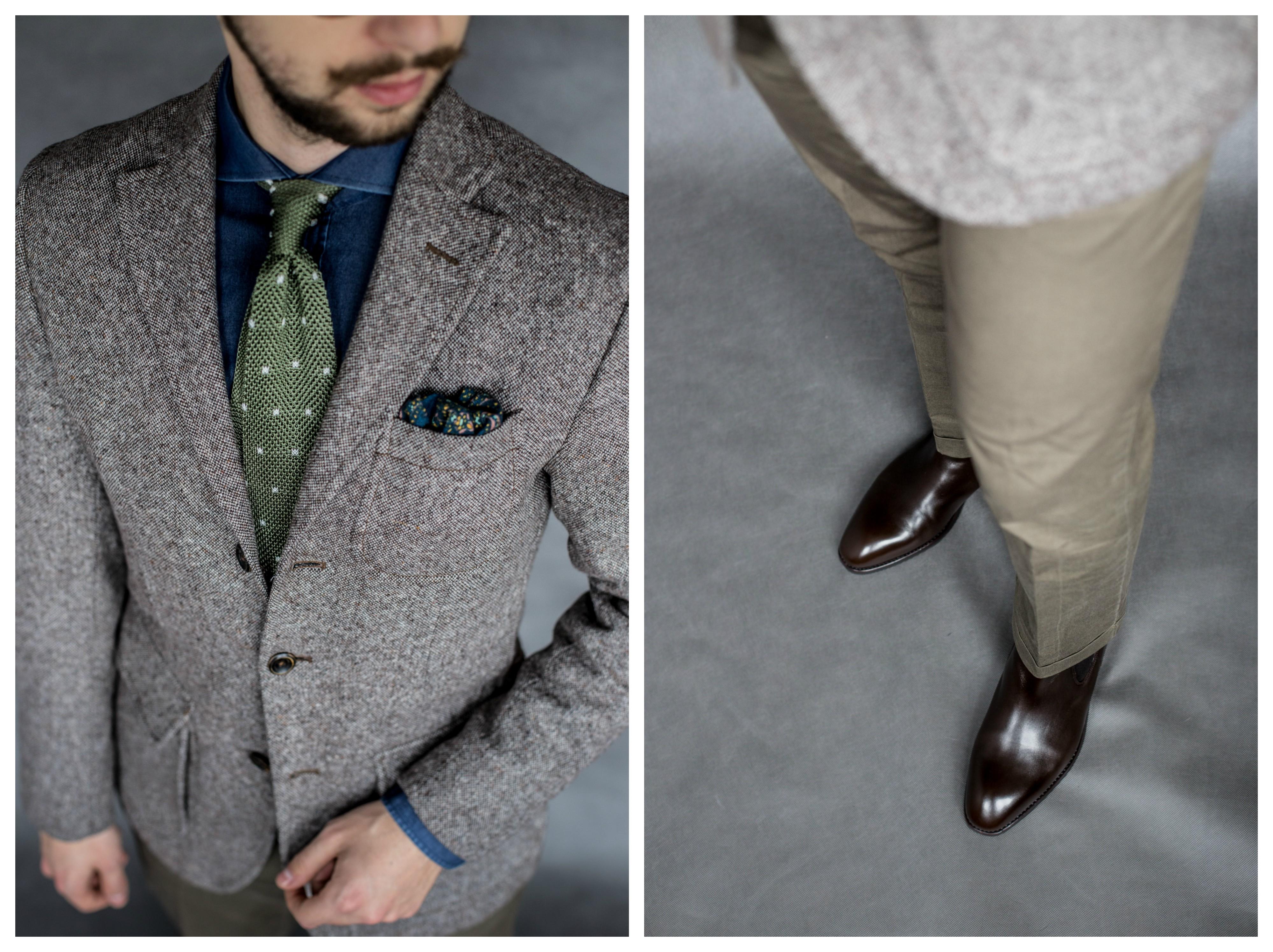 93cabe9a1a13d Krawat – John Malker Poszetka – Bytom Okulary – bez metki. Spodnie – Zara  Buty – Yanko