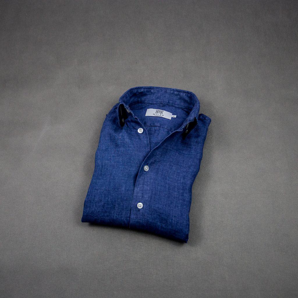 granatowa-lniana-koszula-letni-styl-casual