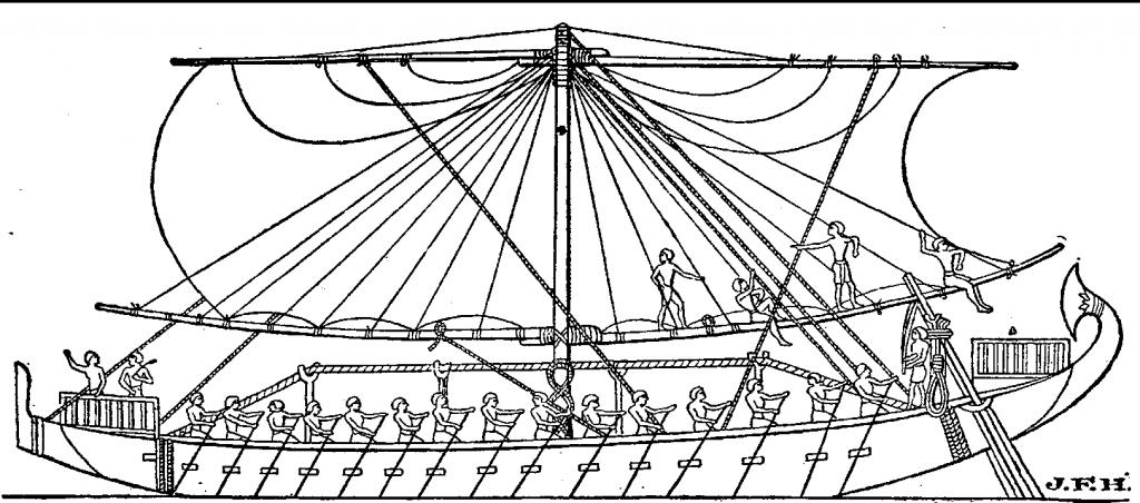 egipski statek na morzu czerwonym pne wikimedia commons styl marynistyczny