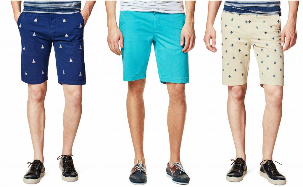szorty męskie chino krótkie spodnie marynistyczny styl