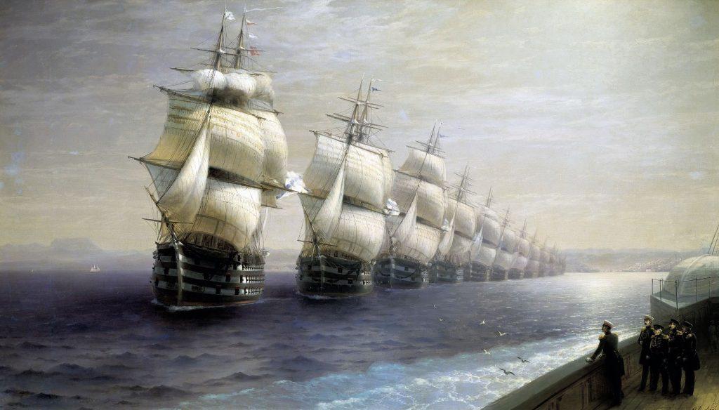 przegląd floty czarnomorskiej ivan aivazovski styl marynistyczny