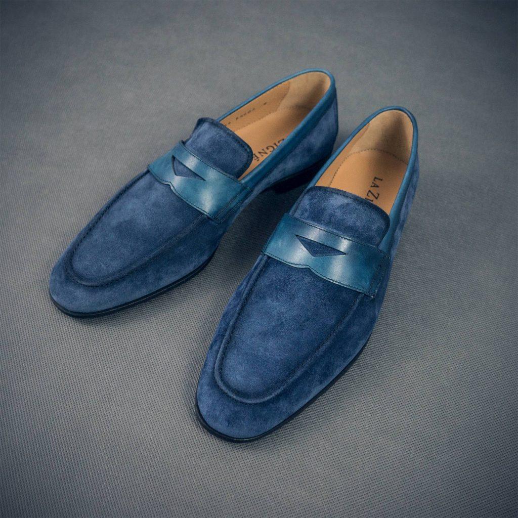 letni smart casual dla mężczyzn lniana niebieska koszula w